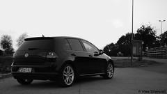 Volkswagen Golf MK7 (VisaStenvall) Tags: suomi finland helsinki car volkswagen vw golf 20 tdi black white b w hatchback sport summer evening night dark bokeh led lights water ocean sea rajasaari