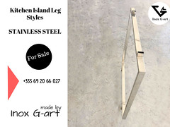 Stainless steel kitchen island legs . (Inox G- art) Tags: furnituredesign furniture kitchen island legs albania madeinalbania handmade design decor decoration modern sturdy interiordesign desing