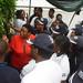 Lagos Business School visits IITA yam seed multiplication unit