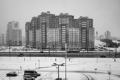 Minsk. April 2018. (raymorgan4) Tags: minsk belarus snow fujifilmx100f x100f winter cold grey orthodox urban landscape europe eastern