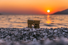 Danbos Watching the sunset (Vagelis Pikoulas) Tags: danbo sun sunset sea seascape landscape porto germeno greece autumn 2018 september sky europe greek tamron 70200mm vc toy canon 6d