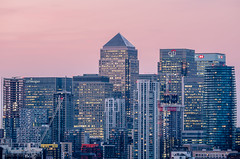 Canary Wharf in the Pink (James D Evans - Architectural Photographer) Tags: pointhill canarywharf docklands isleofdogs london londonarchitecture architecture sunset