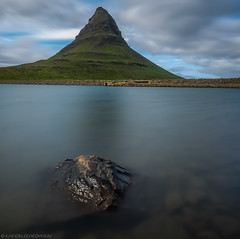 The rocks (big and small) (katrin glaesmann) Tags: iceland kirkjufell snæfellsnes unterwegsmiticelandtours photographyholidaywithicelandtours reflection spiegelung sea longexposure ndfilter