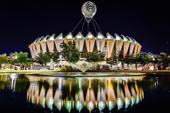 Bassnector at the Hampton Coliseum (mrbrkly) Tags: bassnectar hamptonva hampton virginia hamptonroads hamptoncoliseum nighttime concert reflection