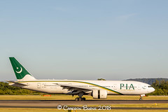 PIA AP-BHX B777-200 (IMG_9022) (Cameron Burns) Tags: pakistaninternationalairlines pakistan international airlines pia pk apbhx boeing boeing777 boeing777200 boeing772 b777 b777200 b772 isb islamabad white green gold manchester airport manchesterairport man egcc ringway viewing park airfield aviation aerospace airliner aeroplane aircraft airplane plane canoneos550d canoneos eos550d canon550d canon eos 550d uk united kingdom unitedkingdom gb greatbritain great britain europe action