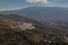Laroles,Granada (DAVID MARCHENA) Tags: sky cloud town landscape montain calm calma trees forest blue andalucía spain pueblos canon tamron autum otoño light airelibre sun sunlight brown green yellow orange
