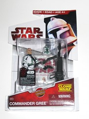 commander gree cw09 star wars the clone wars red white canadian card basic action figures 2009 hasbro mosc a (tjparkside) Tags: commander gree cw09 09 star wars clone sw tcw cw red white packaging card cardback canadian canada hasbro basic action figure figures 2009 mosc darth maul get exclusive qui gon quigon jinn eopie helmet removable blaster blasters pistol rifle pistols rifles missile launcher launching cannon holster holsters green double mohawk trooper troopers clones