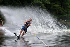 water ski (scienceduck) Tags: scienceduck 2018 september muldrew muldrewlake lakemuldrew cottage cottagecountry muskoka john johnnyd waterski ski waterskiing boat spray