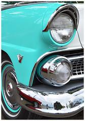 55 Vicki. The Ford Fairlane Crown Victoria. (bobchesarek) Tags: 1955fordcrownvictoria ford vicki crownvictoria 1955 headlight chrome fairlane fordfairlane