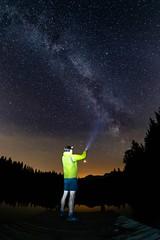 Stargazing (ramvogel) Tags: sony a6300 samyang 8mm switzerland stars night milkyway crestasee mars longexposure water lake reflection clouds landscape