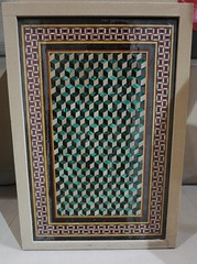 inlay panel pattern (squeezemonkey) Tags: chatsworthhouse statelyhome england panel pattern inlay statueroom geometric