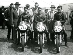 Junior International AJS Works Team (British Motor Industry Heritage Trust Archive) Tags: bmiht britishmotormuseum lucascollection lucas history vintage archive motorbike motorcycle racing bike