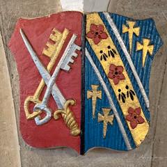 365-2018-259 - Episcopal Coat of Arms (adriandwalmsley) Tags: churchdecoration shield