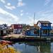 Bunte Häuser Fisherman's Wharf Victoria Vancouver island