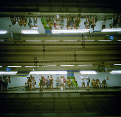 Fringe - When Multiverses Collide (ale2000) Tags: 120 6x6 lca lca120 lomography madrid analog analogphotography analogue candid film groupofpeople metro multipleexposure people square street streetphotography tube underground waiting lomographycolornegative400 filmisnotdead believeinfilm pellicola metrostation sol multiverse reverse multiverso gente groupofpeoplela