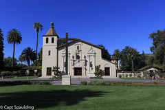 Mission Santa Clara de Asis (CaptSpaulding) Tags: 6d california canon mission missionsantaclaradeasis religious cross church icons building buildings old spanish color contrast hwy101 flora grass green catholic