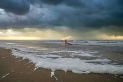 Storm (thijs.coppus) Tags: wind wolken clouds sky dutch netherlands niederlande nederland holland nordsee noordzee northsea see meer zee sea strand beach plage playa surfing surfer surf rain storm