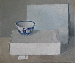 Still Life (ART NAHPRO) Tags: still life painting bowl chinese china porcelein cardboard box paul jackson pauljackson wing gallery