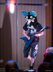 Canfurence 2018 - Anubis (Kakurady) Tags: jackal ankh aqua blue black yellow stripes mask fursuit dreammachinecostumes male canfurence canfur ottawa ontario canada