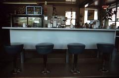 Golden Egg Restaurant (marmotfotos) Tags: cafe clock diner restaurant goldbeach oregon biketrip biketouring