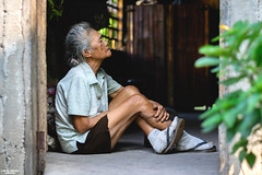 Home sweet home (vincent.lecolley) Tags: asia philippines woman asian world sitting home house old walls wall indoor filipina ageless beautiful light natural d3300 50mm 18 nikon