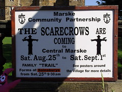 The Scarecrows Are Coming! (Glass Horse 2017) Tags: scarecrow seaside maritime nautical redcarandcleveland marskebythesea marskescarecrowfestival2018 sign signsunday besidetheseaside