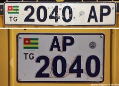 2040 AP (XBXG) Tags: 2040ap ap2040 ap 2040 togo africa rt afrique license plate kenteken plaque immatriculation immat