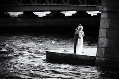 Rhythm of wedding waves - Ритм свадебных волн (Valery Parshin) Tags: russia saintpetersburg canoneos70d canonefs55250mmf456isstm two blackandwhite monochrome stpetersburg water waves