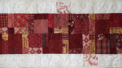 Christmas TableRunner (PatchworkPottery) Tags: quilt patchwork scrappy freemotion table runner tablerunner christmas long presents