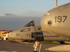 The way home...A-10s at Sicily/ Mt. Etna (Ray C. Lewis) Tags: a10 military air force aircraft