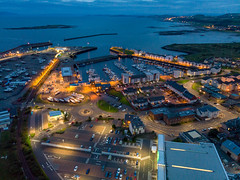Ardrossan Harbour at Night