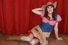Cow girl fancy dress (Paula Chester) Tags: tg tv ts trannie tanny transvestite tgirl tgurl cd cowgirl tranniefun crossdressing crossdresser ladyboy