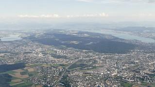 Zürich Greifensee Zürichsee Switzerland aerial view