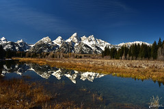 Tetons Reflecting (Matt Kemps) Tags: tetons grand teton snake river reflection reflections mountains peaks snow capped water fall crisp wyoming creek mountain