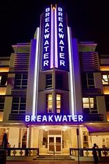 Breakwater (ucumari photography) Tags: ucumariphotography breakwater hotel artdeco tropical deco southbeach miami beach oceandrive florida fl night neon lights august dsc6898 sobe