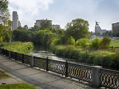 Moscow walks (janepesle) Tags: russia moscow river autumn fall city cityscape urban nature architecture embankment россия москва ростокино пейзаж природа река яуза архитектура