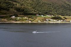 Leaving Alesund Norway (sobergeorge) Tags: alesundnorway vov2018 sobergeorge bysobergeorge voyageofthevikings landscape norwaylandscape deepnorth d80 geotag gps summercruise