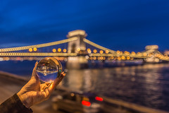 Budapest (Vagelis Pikoulas) Tags: budapest chain bridge crystal ball hungary blue hour bokeh canon 6d tokina 1628mm lights europe landscape city cityscape autumn september 2018 travel river danube