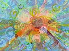 Sky & Ocean 2 (soniaadammurray - On & Off) Tags: manipulated experimental collage abstract fineart sky sea ocean sun reflections shadows art pastels ~~~pasteltones~~~ artweekgallerygroup artchallenge nature iphone
