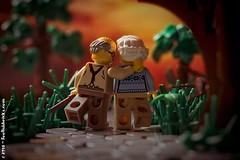 Good old Times (Foolish Bricks) Tags: lego legophotography toyphotography legography minifigures afol eldery elderlylove romance sunset