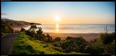 Ngarunui beach - Raglan (Falcdragon) Tags: zeissloxia2821 sonya7riialpha ilce7rm2 ngarunui beach raglan westcoast newzealand waikato landscape panorama hdr