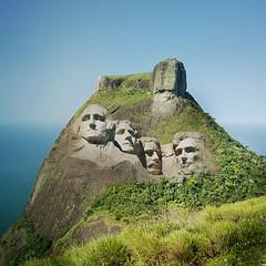 Pedra da Gávea (jaci XIII) Tags: stone rock brazil sculpture usa presidents pedra rochedo escultura brasil presidentes
