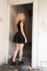 GATTA (Impact Photographic) Tags: model beauty pretty girl woman russiangirl blondehair blackdress sexy urbex abandoned photography thierry guez
