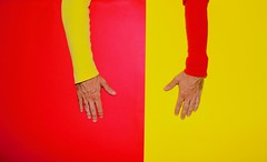 Contrasti (marcus.greco) Tags: contrast yellow red conceptual hands selfportrait portrait arms surreal colors