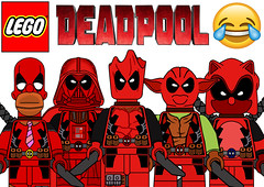 Funny Lego Deadpool Minifigures !!! (afro_man_news) Tags: lego deadpool funny memee memes minifigure minifigures all new marvel star wars yoda darth vader soinc homer simpson stitch jokes characters groot simpsons aengers infinity war spongebob squarepants custom