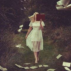 Reading is dreaming with open eyes ❤️ (Laura.Jane.Photography) Tags: conceptart concept pagesflying dressflowing art pages books surrealphotography fields surreal reading