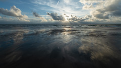 reflections on the beach (robvanderwaal) Tags: 2018 nederland patronen landscape northsea sunbeams wolk reflection reflectie noordzee netherlands sand sun zee sea landschap maasvlakte zon beach strand lucht cloud zand patterns sky seascape robvanderwaalphotographycom water wolken clouds