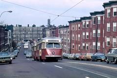 MBTA PCC3029 SoHuntingtonAve Dec1972 (ironmike9) Tags: bostonma mbta transit publictransit trolley tram pcc streetcar