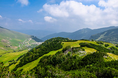 Vranica mountain, Bosnia and Herzegovina (HimzoIsić) Tags: landscape mountain mountainside hill outdoor mountaineering nature forest grassland grass green sky clouds conifer serene