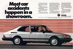 SAAB 900 Turbo (vasiliy.ivanoff) Tags: advertising advertisement ad commercial reclame saab scandinaviandesign sweden swedish turbo saabautomobileab svenskaaeroplanaktiebolaget isthecommandperformancecar itswhatacarshouldbe wedontmakecompromiseswemakesaabs themostintelligentcarseverbuilt saab900turbo saab900og 900 og hatchback 1989